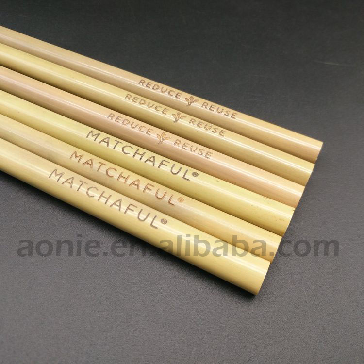 Todo Extra ancho de bambú pajitas para batido
