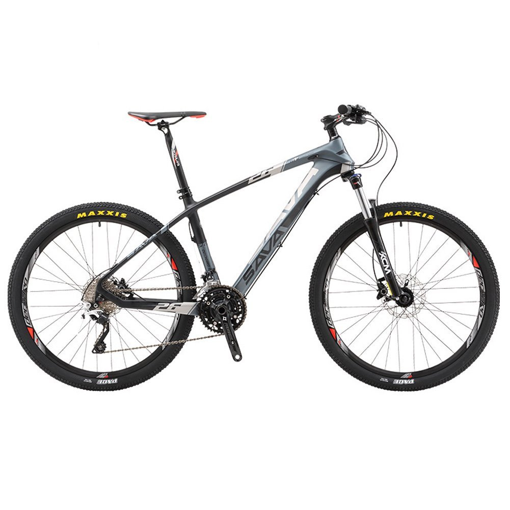"SAVADECK DECK300 Carbon Fiber Mountain Bike 26""/27.5""/29"" Complete Hard Tail MTB Bicycle 30 Speed SHIMANO M610 DEORE"