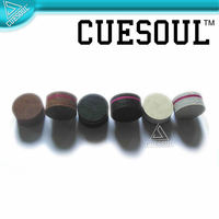 CUESOUL 8 Leather Layered Pool Billiard Cue Tips 13 mm Soft