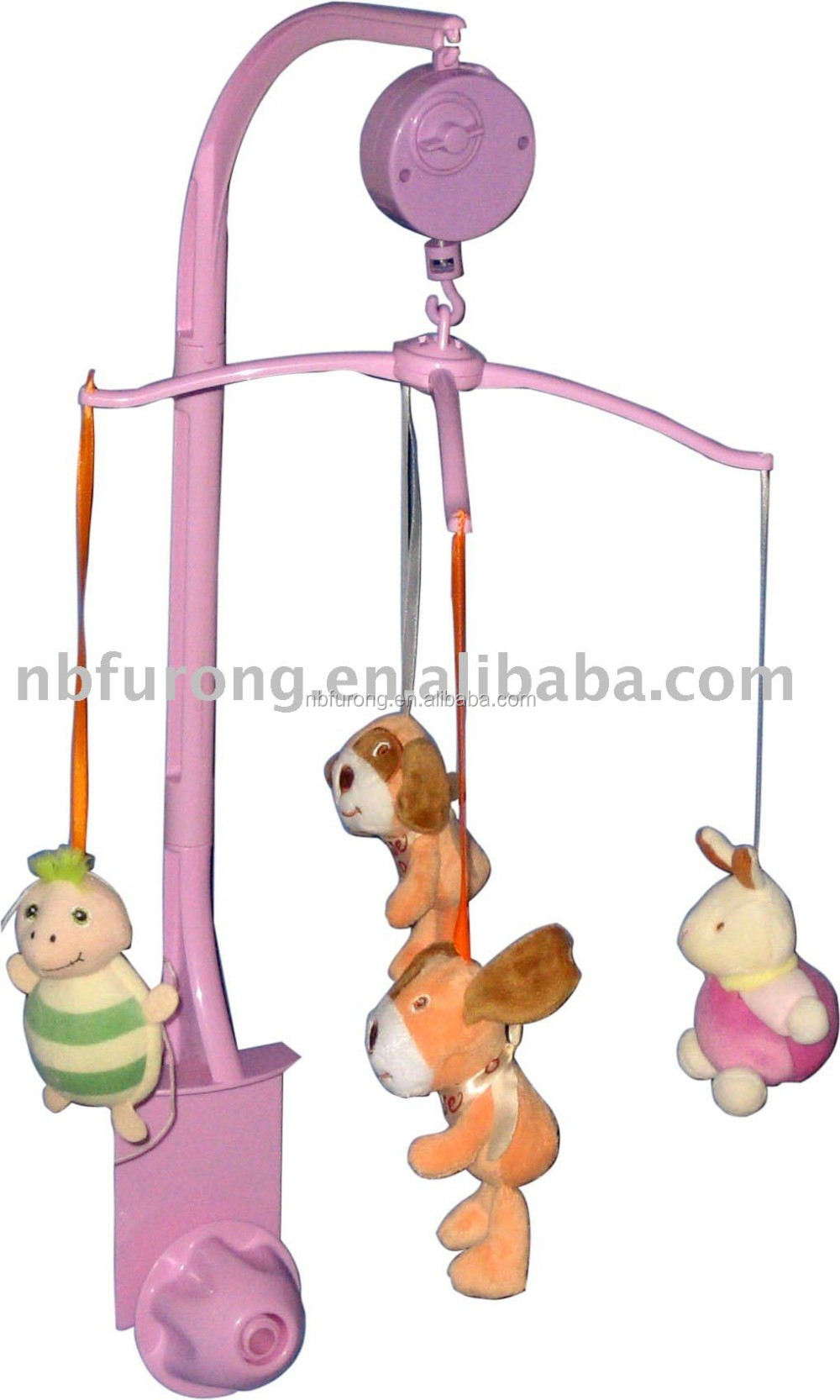 Wind-Up hand crank Music Box custom baby bed hanger toy