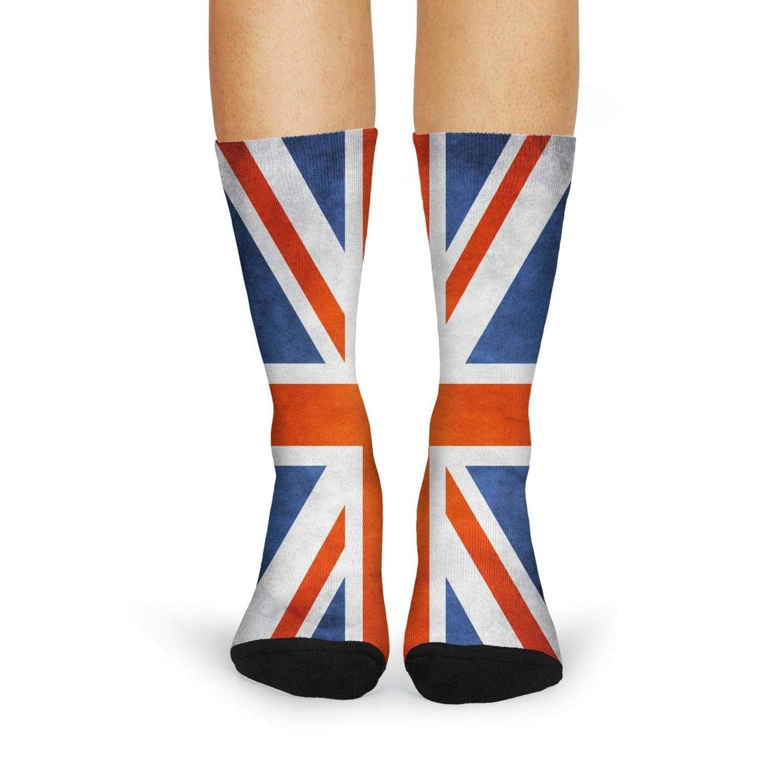 fc9541b57 FanYe vintage UK flag Print Fashion Casual Novelty Crew Socks for Wonem