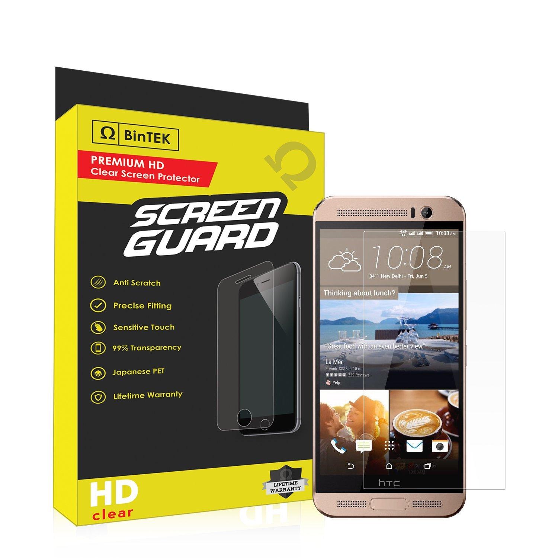 BinTEK Screen Guard HTC One ME Screen Protector PREMIUM Ultra-HD Scratch Resistant Clear Screen Protector HTC One ME / Compatible with models M9et M9ew