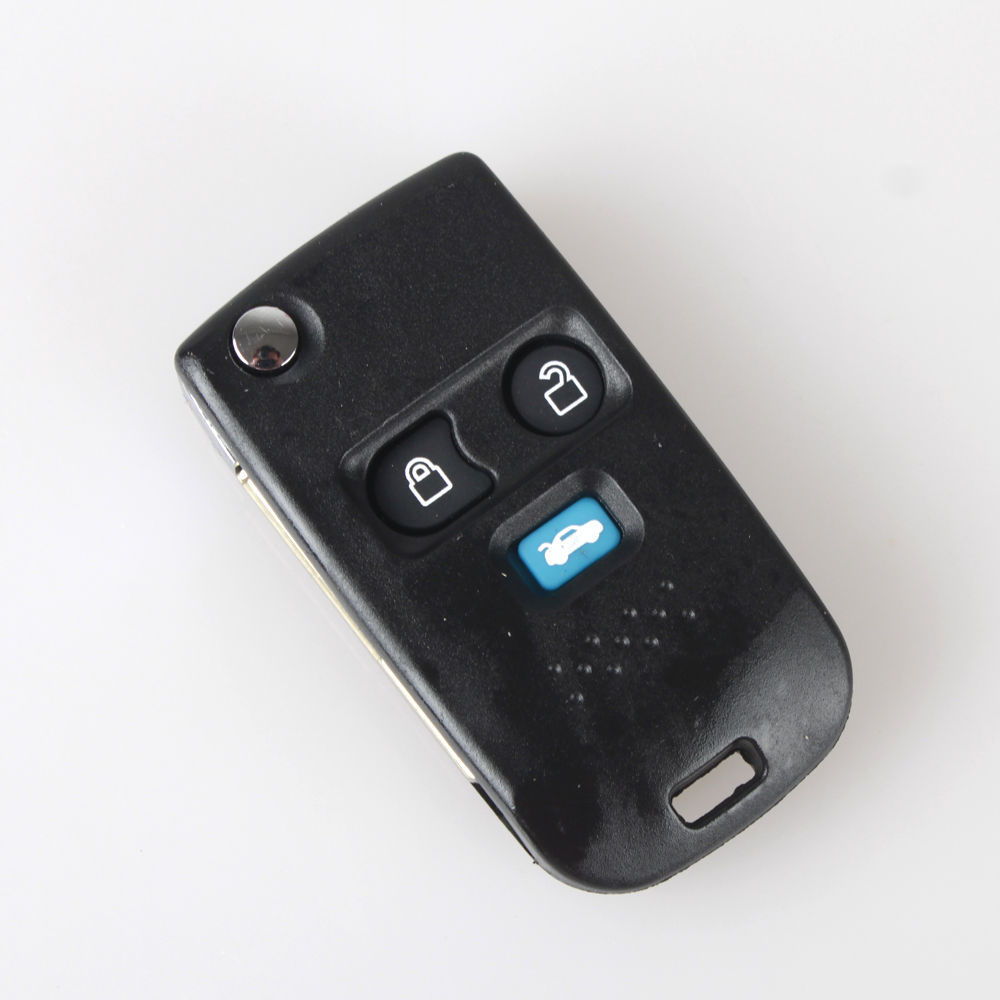 Get quotations 3 button entry remote flip key fob shell case for ford uncut blade