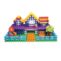 klikko construction children's plastic snowflake building blocks
