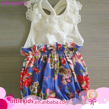 f87bdd41f2d Wholesale Blank Clothes Baby Bubble Romper Boutique Little Girls Toddler  Smocked One Piece FLORAL Backless Jumpsuit