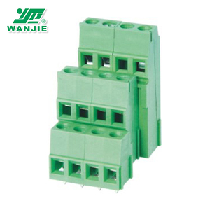 WANJIE 5.0mm/5.08mm Electronic connector PCB Screw Terminal Block for wholesale (WJE3K500A-5.0/WJE3K508A-5.08)