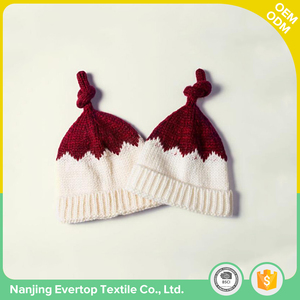 Autumn fashion single layer girls cute cheap winter hats beanie with custom label