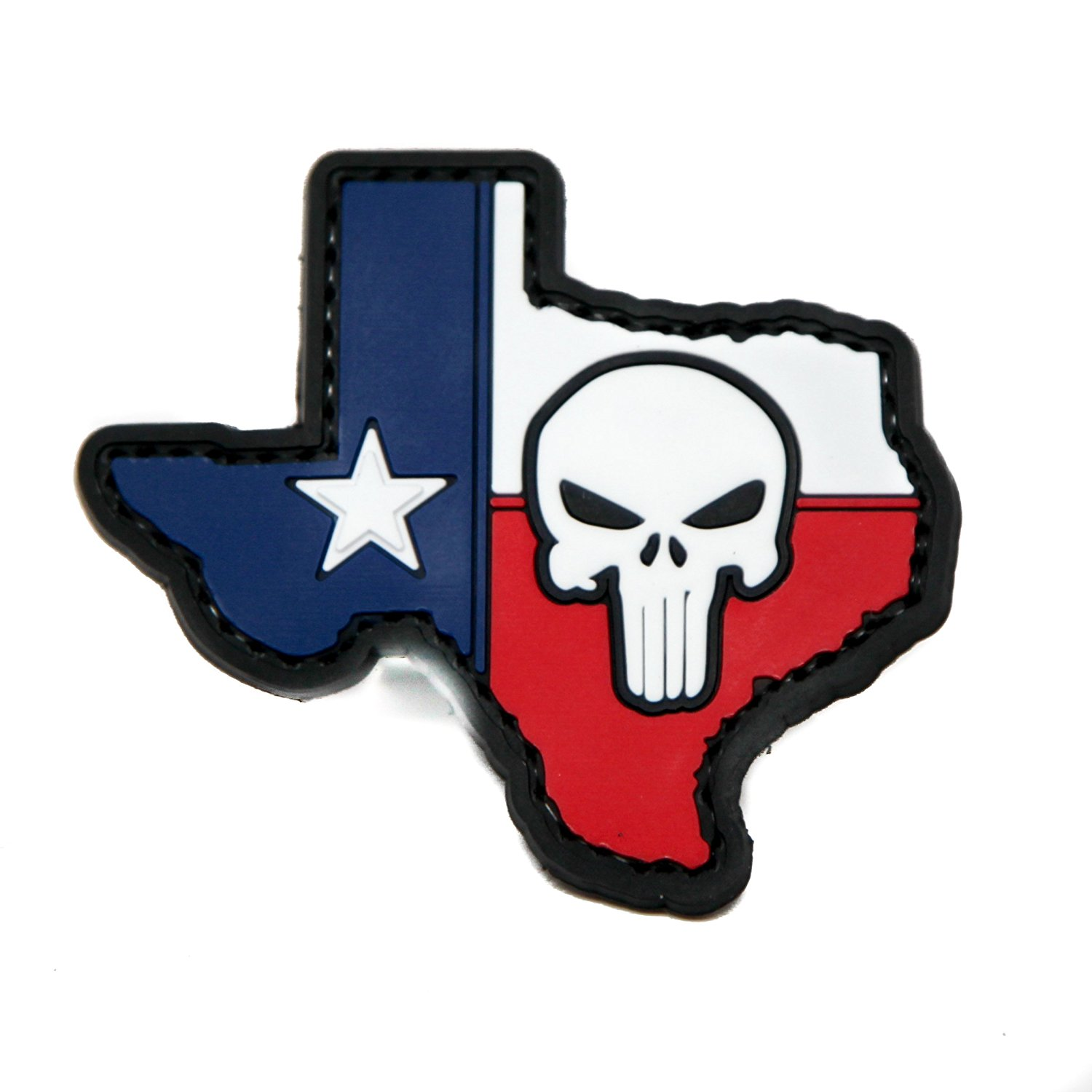 6879a9ebcc72 Buy Texas State Flag With Punisher PVC Morale Patch, Velcro Morale ...