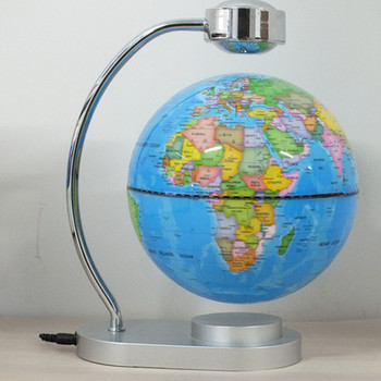 8 Inch Office Desk Display Magnetic Levitating And Rotating Planet Earth Globe Ball With World Map Buy Led Magnetic Levitation Floating