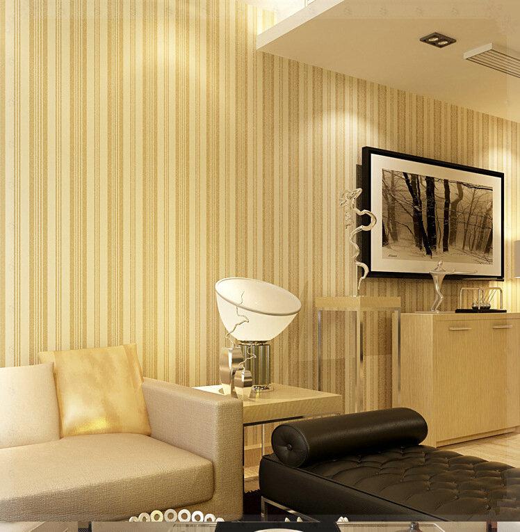 Pure Velvet Flocking 3D Wallpaper Modern Minimalist Living