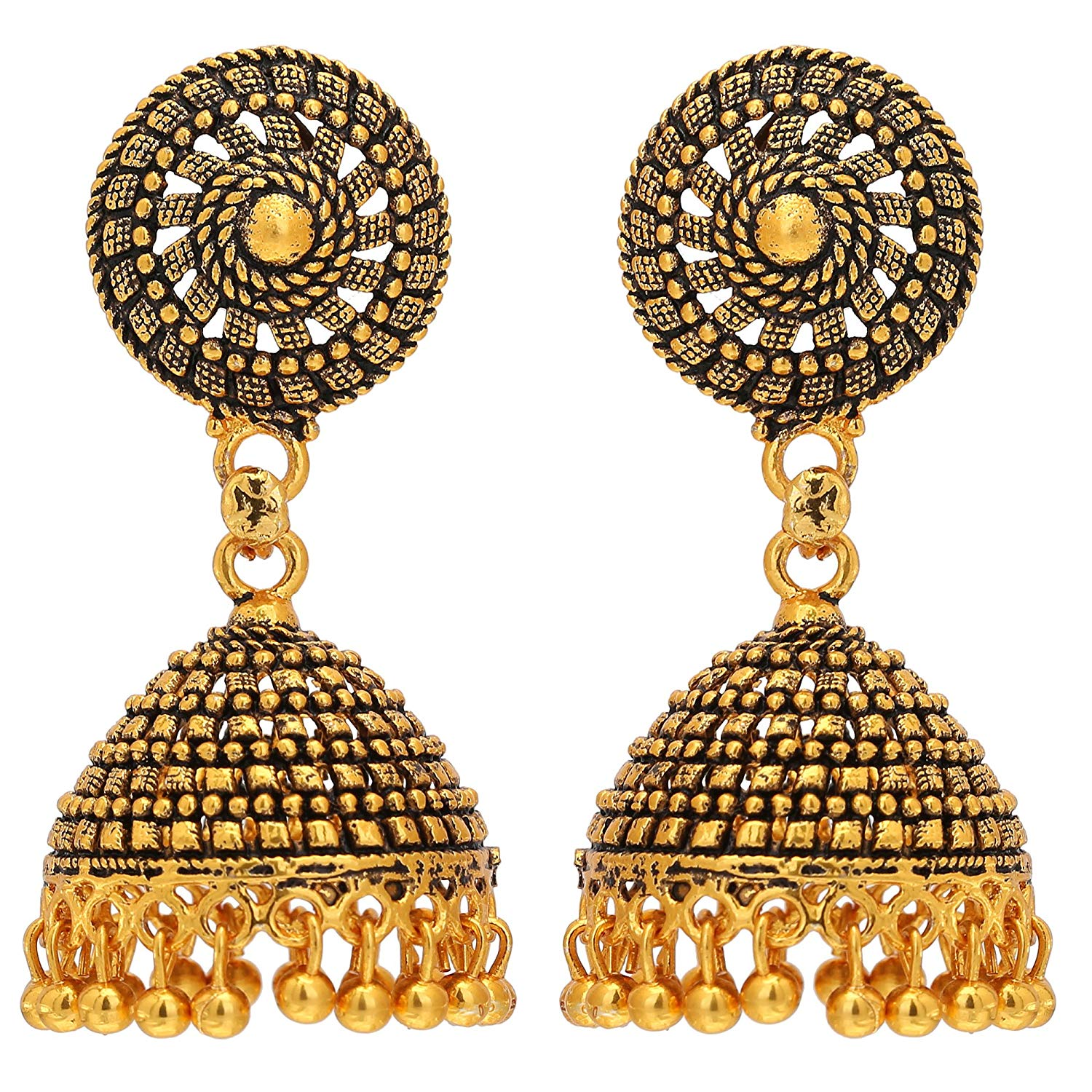 Cheap Gold Jhumka Earrings With Rectangle Shape, find Gold