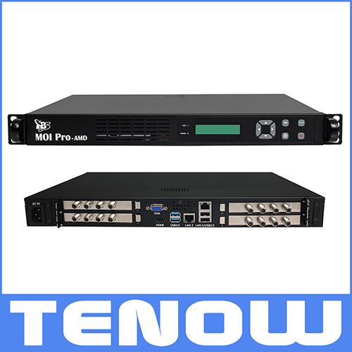 Tbs2951 profesional IPTV servidor de Streaming con 4x DVB-S2 octa
