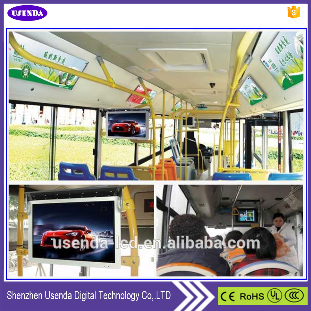 Bus internal ads wide screen 19inch Car LCD display