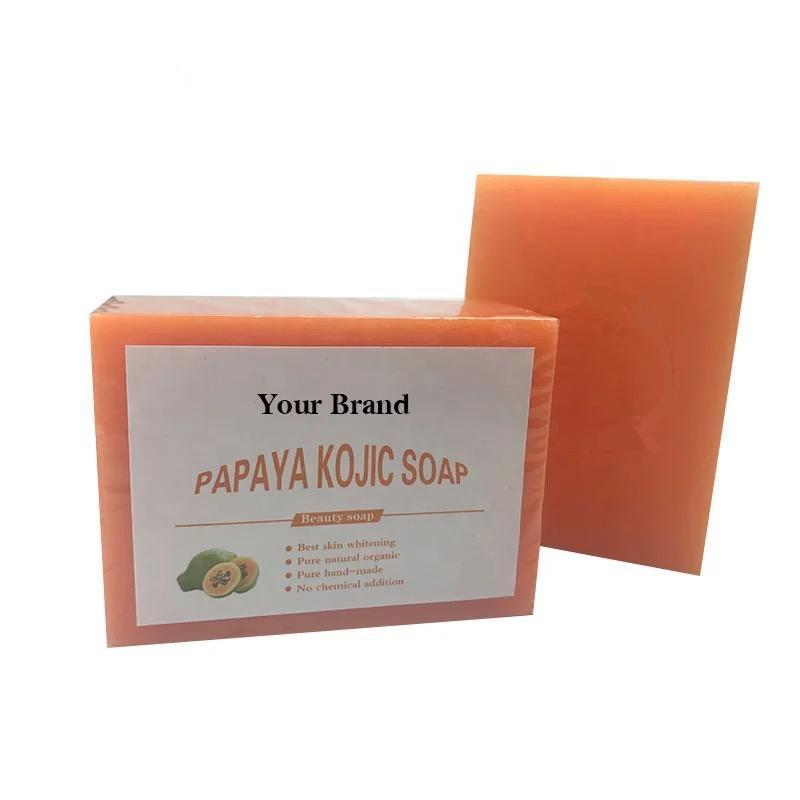 Alibaba.com / Organic soap private label Hand made Skin Lightening Beauty papaya Kojic Acid Soap