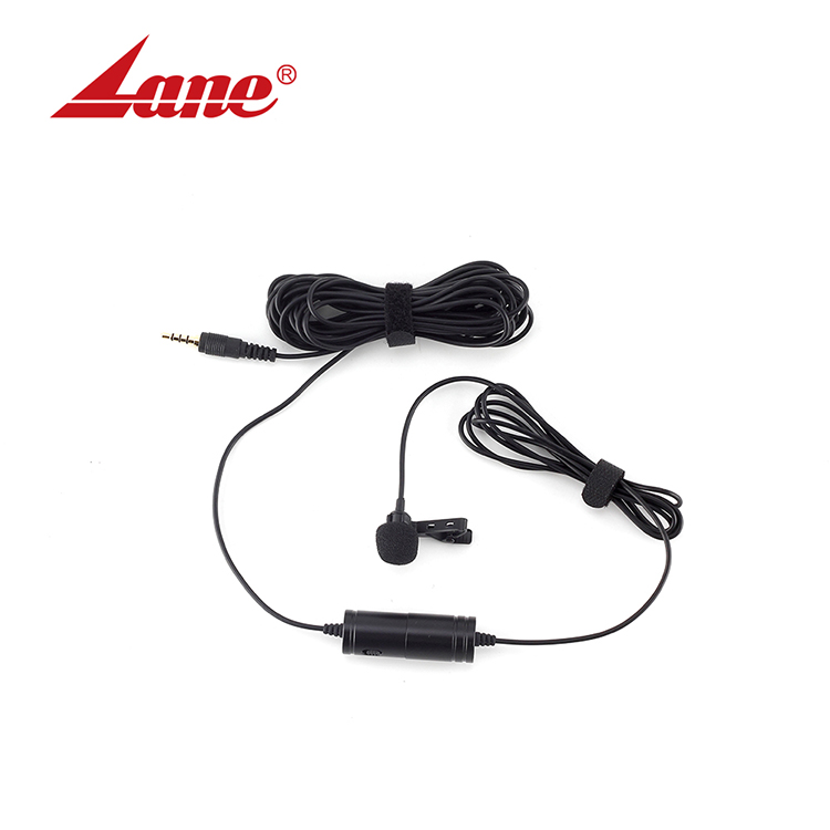 BYM-M1 Mini Mic Wired Lavalier Collar Tie Clip Microphone