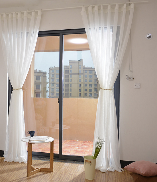european style window curtains latest design wholesale linenlook sheer eyelet curtains