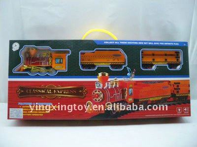 Plastic hot sale battery operated railway toy train set