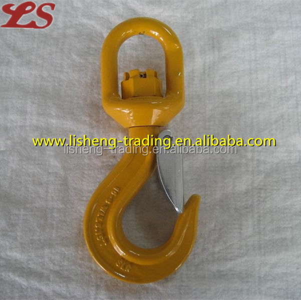 G80 forged swivel weight lifting hook