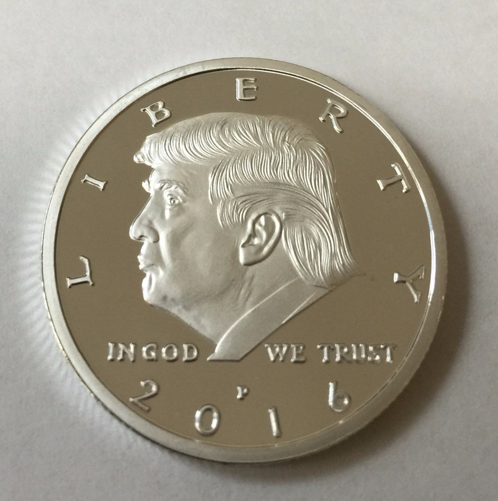 2017 Silver Eagle Crest Donald Trump Challenge Coin Buy