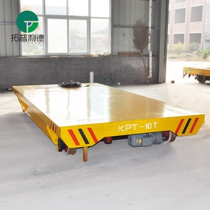 Towed cable power bay to bay steel plate handling car