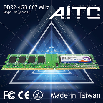 Bset supported Professional AITC ram ddr2 4gb 667 mhz ram