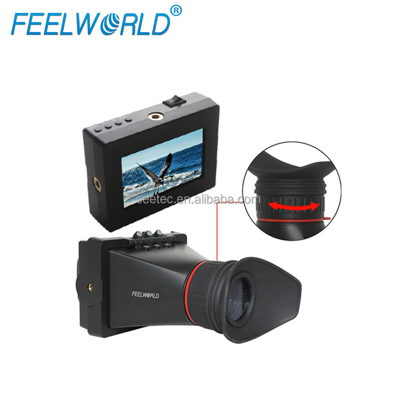 "EVF 3.5"" HD LCD Display HDMI/AV/RCA Inputs Mini Computer Monitor for Professional Video Shooting"
