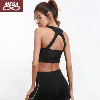 e6422e6148 Wholesale Designer Clothing Padded Low Cut Front Zip Sports Bra ...
