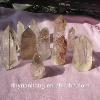 Rare Natural Rock Crystal Rutilated Quartz Crystal Points,Quartz Crystal  Points Wholesale,Crystal Rutilated Wand - Buy Raw Crystal Points,Quartz