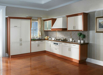 European Style Kitchen Cabinet Simple Designs Pvc Finished Kitchen