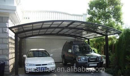 pour deux voitures parking gratuit permanent double aluminium carport garage toit et abris d. Black Bedroom Furniture Sets. Home Design Ideas