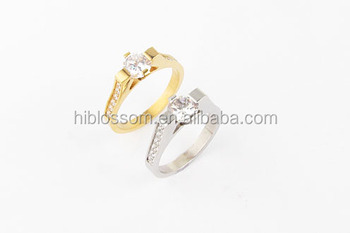 Latest Stainless Steel Wedding Gold Ring Model Set For Couples Jewelry