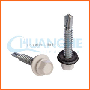 China supplier rubber bonded washer hex washer head roofing screw