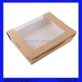 Recycled Plain Brown Kraft Box Window Box See Through Gift Boxes For Food Buy Window Box See Through Gift Boxes Window Box Gift Boxes Cardboard Gift