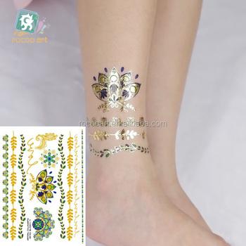 Vt368/2016 Wholesale Fashion Jewelry Gold Tattoo,Lotus Gold Bracelet ...