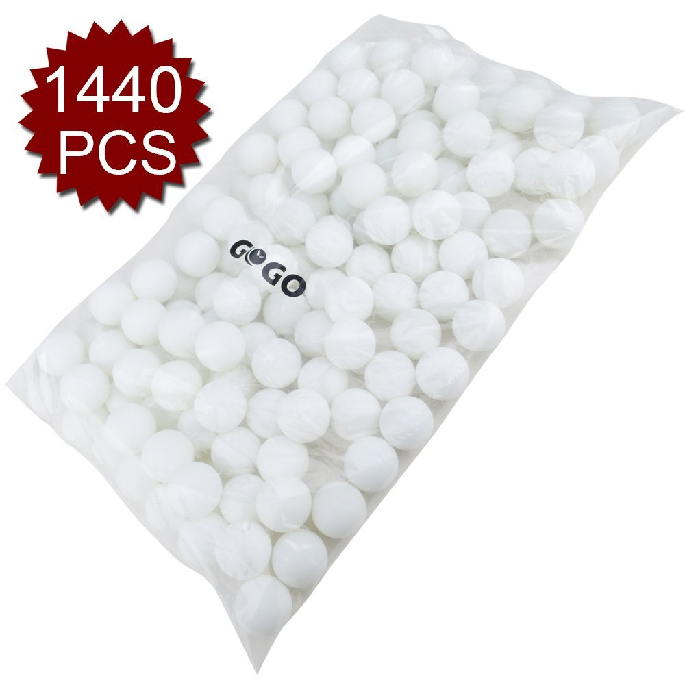 (Price/10 Bag)GOGO 3 Star Blank Table Tennis Balls, 1440pcs Wholesale, Excellent for Custom Print