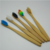 Biodegradable Disposable Feature Bamboo ToothBrush Rainbow Color Soft Medium Bristle Bamboo Toothbrush With Private Label