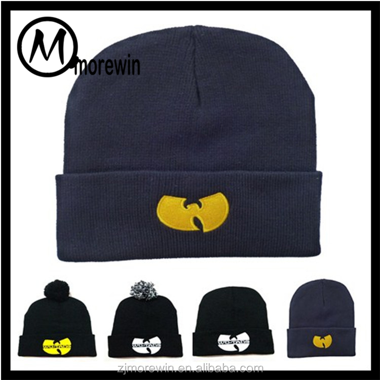 Morewin hat Custom logo Knit beanie hat and cap for man&woman pure color lady hats