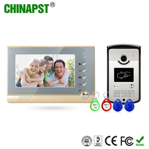 Hot selling waterproof RFID ID card handsfree color two-way home wired video door phone intercom PST-VD07R-ID