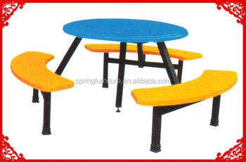 Prime Industrial Round Canteen Furniture Attached Table And Chair Ct 027D Buy Canteen Furniture Restaurant Round Tables And Chairs High Chair And High Ocoug Best Dining Table And Chair Ideas Images Ocougorg