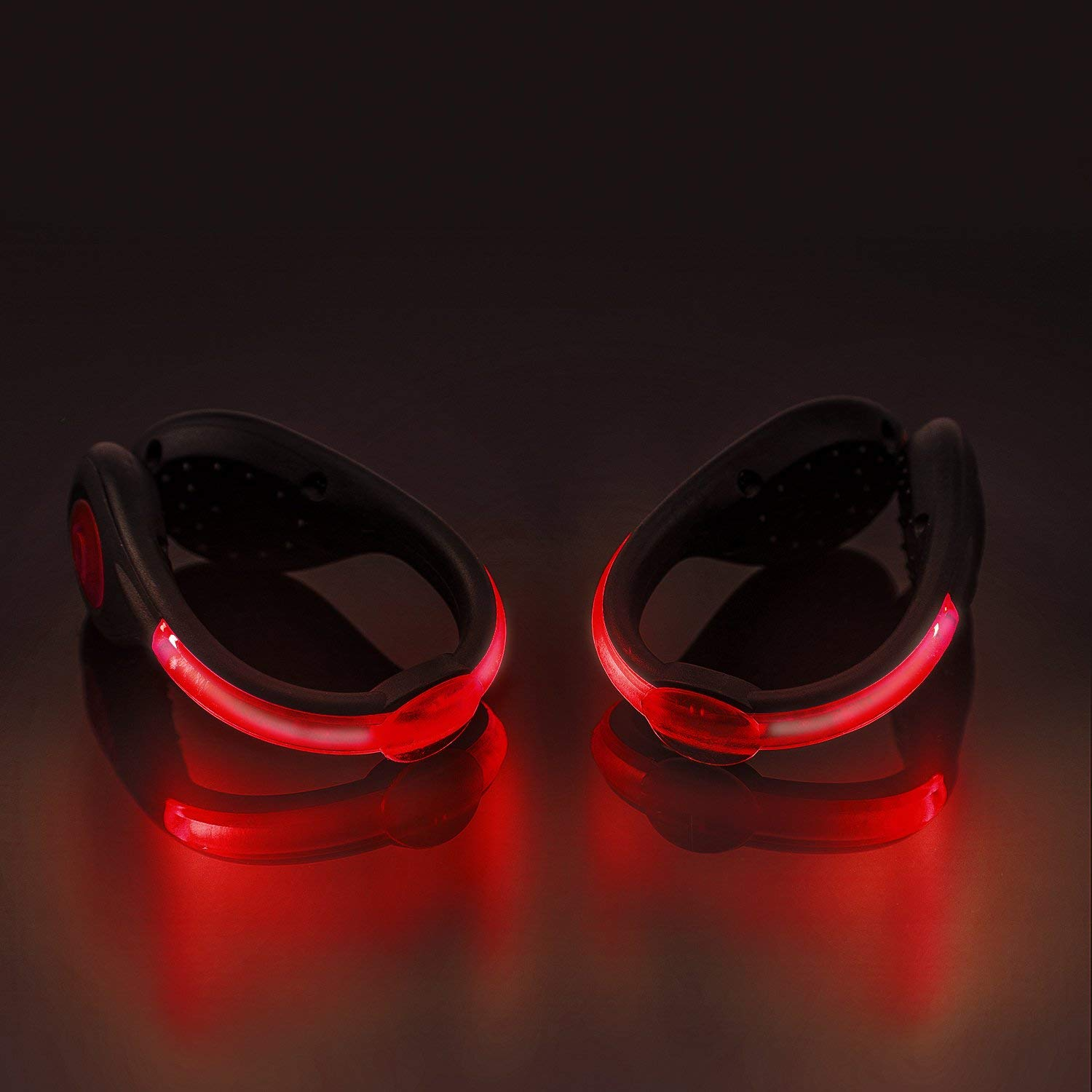 21a4b3d885b18 Get Quotations · SLDHR LED Shoes Clip Lights USB charging for Night Running  Gear, Color Changing RGB Strobe