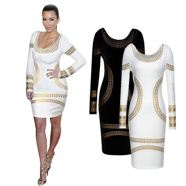 Get Quotations · New Summer Fashion Women Sexy Bodycon Dresses for Club  Party Evening Long Sleeve Dress Plus Size 94d14aa8eb2e