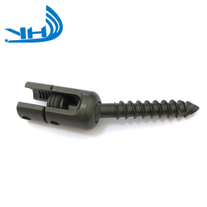 Vertebral spinal surgical pedicle screw polyaxial spine titanium screws