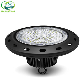 led high bay light EMC LVD approved factory light UFO with microwave motion sensor and dimmer