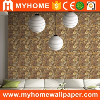 Moderne Stein Wand Dekoration Papier 3d Ziegel Muster Dekorative