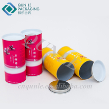 Customize Tins for Tea Leaves Paper Tube Boxes