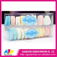 Popular recyclable PET macaron box food packing
