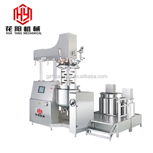 Hydraulic Lifting high pressure homogeinzer vacuum emulsifying mixer for make cosmetic cream and viscous fluid products