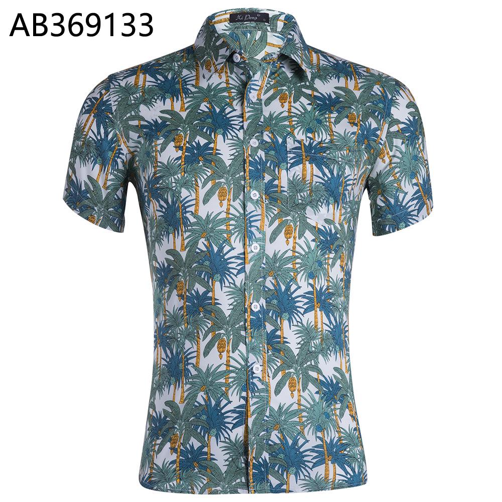 पुरुषों की लघु आस्तीन हवाई शर्ट और शॉर्ट्स गर्मियों आकस्मिक समुद्र तट हवाई शर्ट शॉर्ट्स पैंट दो पीस सूट पुरुषों AY456264
