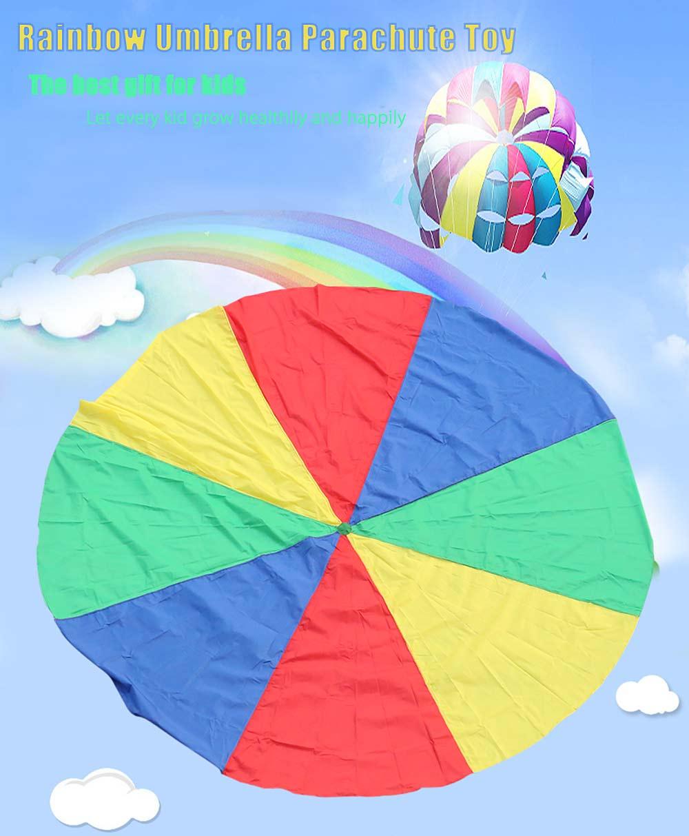 2a17067ee819 Compre Al Por Mayor Paracaídas 3m Rainbow Paraguas De Los Niños ...