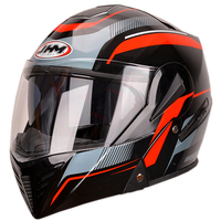 China helmet factory full face double visors modular flip up motorcycle helmet